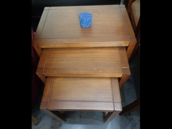 میز سه تکه پذیرایی از جنس چوب راش با دوام بسیار بالا و انتخاب رنگ