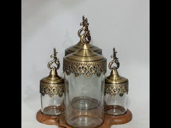سرویس ادویه در ۳ رنگ طلایی . انتیک . نقره ای  قیمت ۱۹۰۰۰۰۰