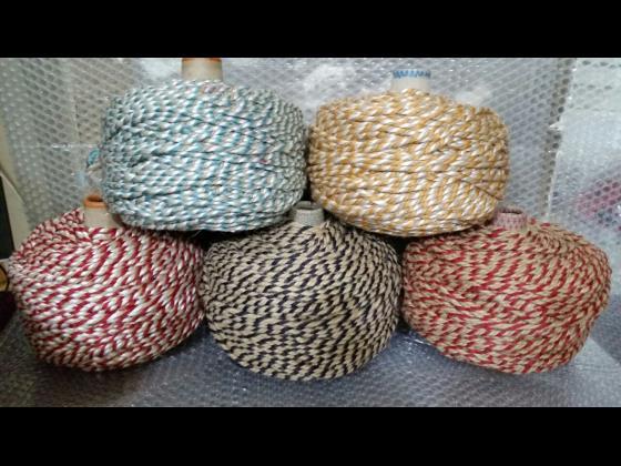 طناب کنف سه گرد در رنگهای متنوع