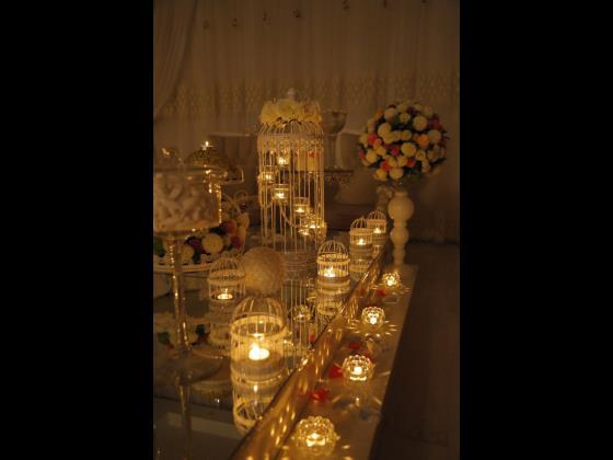 سالن شماره 1 سعادتآباد با شمع آرایی