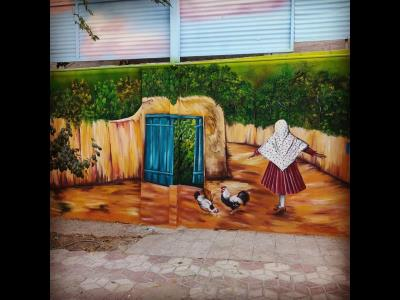 میثاق ری -تبلیغاتی - خوشنویسی - نقاشی دیواری منظره -شهرری